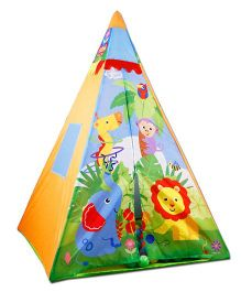 Emob Easy Foldable Triangular Play Tent With 30 Colourful Balls - Multicolour