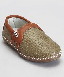 Cute Walk by Babyhug Slip On Loafers  - Olive Green
