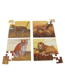 Anindita Toys Wild Cat Family Jigsaw Puzzle - 72 Pieces