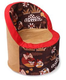 Luvely Kids Angry Bird Print Sofa - Brown & Red