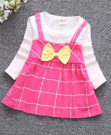 Pre Order - Tickles 4 U Checks Dress With Bow - Pink