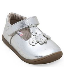 Teddy Toes Rose Ballerina - Silver