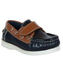 Teddy Toes Dual Colour Tone Loafers - Navy & Tan