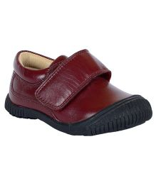 Teddy Toes Jack Shoes - Burgandy