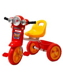 Happykids Tricycle With Flashing Lights - Red