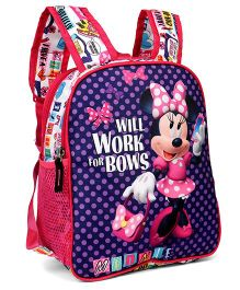Disney Minnie Mouse School Bag Pink Purple - 12 Inches