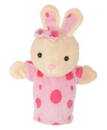 Twisha Hand Puppet Bunny Shape Soft Toy Pink - Height 25 cm