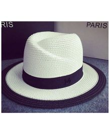 Lilpicks Couture Fedora Sun Hat - White