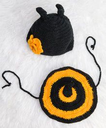 The Original Knit Bumble Bee Cap & Tushie - Yellow & Black