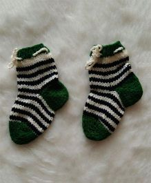 The Original Knit Striped Socks - Green