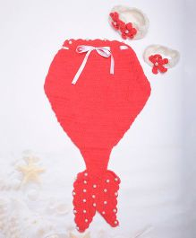 The Original Knit Mermaid Crochet Prop - Tomato Red