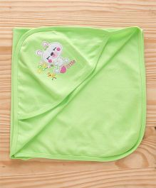 Simply Hooded Wrapper Bear Patch - Green