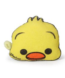 Duck Shape Bath Sponge With Loop - Yellow