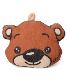 Bear Shape Bath Sponge With Loop - Brown