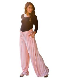 MOMZJOY Striped Maternity Pants - Peach