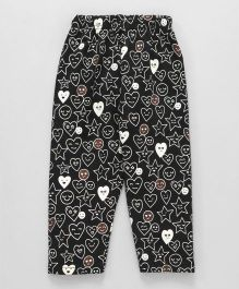 Fido Capri Leggings Heart & Star Print - Black