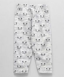 Fido Capri Leggings Kitty Print - White Grey