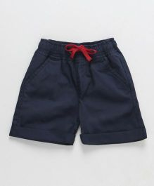 Cucumber Shorts With Drawstring - Navy
