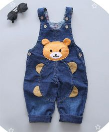 Superfie Teddy Applique Dungaree - Blue
