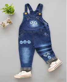 Superfie Cute Eyes Dungaree - Blue