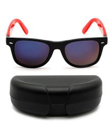 Miss Diva Tinted Sunglasses With Case - Black & Red