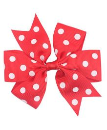 Flaunt Chic Bow Hair Clip - Red
