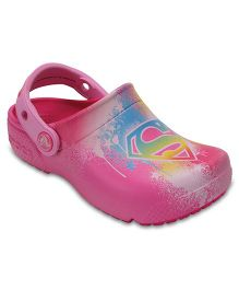 Crocs CrocsFunLab Supergirl  - Candy Pink  (3 to 3.5 Years)