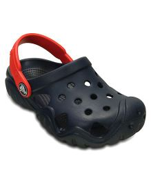 Crocs Swiftwater Clog - Navy & Flame  (5 to 5.5 Years)