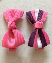 Angel Closet Pair Of Bow Clips - Pink