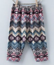 Pebbles Zigzag Printed Leggings - Red & Multicolor