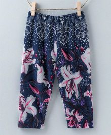 Pebbles Floral Pajamas - Dark Blue
