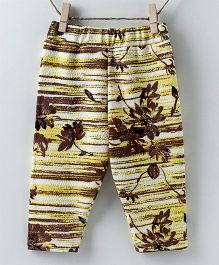 Pebbles Printed Pajamas - Yellow