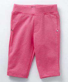 Vitamins Full Length Solid Colour Jeggings - Pink