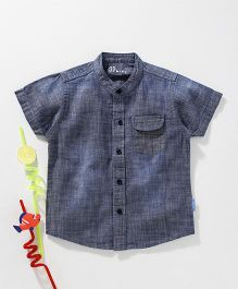 GJ Baby Half Sleeves Solid Colour Shirt - Blue