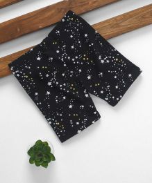 Fox Baby Three Fourth Pant Star Print - Black