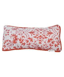Kanyoga EyePillow With Flax Seed & Dried Lavender Flowers Filling - White Orange