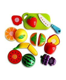 Toyshine Fruit Set With Knife & Chopping Board (Colour May Vary)