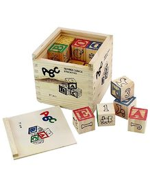Toyshine Wooden Learning Blocks With Storage Box 27 Pieces - Multicolour