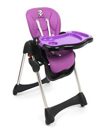 Baby High Chair With Wheels - Purple & Black