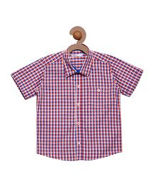 Campana Boys Collar Neck Shirt - Red & Purple