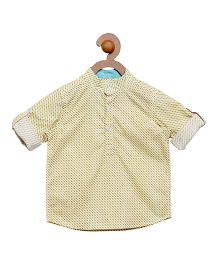 Campana Boys Pop Over Shirt - Yellow