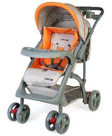 Luv Lap Baby Stroller Cum Pram Sports Grey & Orange - 18109