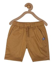 Campana Elasticated Pull On Shorts - Brown