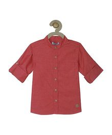 Campana Full Sleeves Shirt - Red