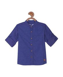 Campana Full Sleeves Shirt - Blue