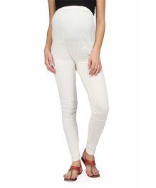 Preggear Maternity Tights  - Cream