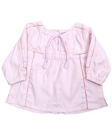 Baby Baya Full Sleeves Frock - Light Pink