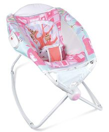 Deluxe Printed Baby Sleeper Cum Rocker Napper - Blue Pink