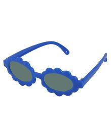ANGEL GLITTER Cute Sunflwer Style Kid's Aviator Sunglasses - Blue