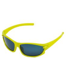 ANGEL GLITTER Cute Kid's Matrix Style Wayfarer Sunglasses - Yellow